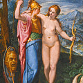 Venus And Minerva In A Landscape by Flemish School