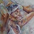 Venus Williams - Portrait 1 by Baris Kibar