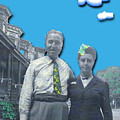 Vera And Al As The Simpsons by Lori  Secouler-Beaudry