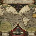 Vera Totius Expeditionis Nauticae Of 1595 by Jodocus Hondius