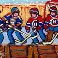 Verdun Hockey Rink Paintings Edmonton Oilers Vs Hometown Habs Quebec Hockey Art Carole Spandau       by Carole Spandau