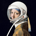 Vermeer - Girl In A Space Helmet by Richard Reeve