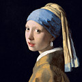 Vermeer - Girl With A Razor Blade by Richard Reeve