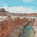 Vermilion Cliffs Standing Guard Over The Colorado by Leslie White