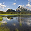 Vermillion Lake And Sulpher Mountain by Ken Barrett