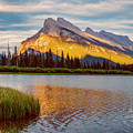 Vermillion Lakes And Mt Rundle II by Joan Carroll