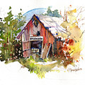 Vermont Barn by P Anthony Visco