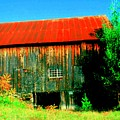 Vermont Barn With Really Red Roof  by Don Struke