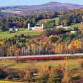 Vermont Countryside View Pownal by John Burk