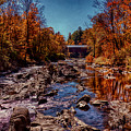 Vermont Covered Bridge Over The Dog River by Jeff Folger