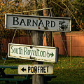 Vermont Crossroads Signs by Jeff Folger