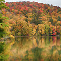 Vermont Fall Foliage Reflected On Pogue Pond by Jeff Folger