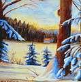 Vermont Log Cabin Maple Syrup Time by Carole Spandau