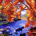 Vermont River by David Lloyd Glover