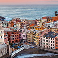 Vernazza Buildings And Sea In Cinque Terre Panorama by Songquan Deng