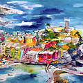 Vernazza Cinque Terre Paintings Of Italy by Ginette Callaway