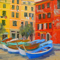 Vernazza Fleet by Bunny Oliver