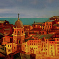 Vernazza Twilight by Norah Brown