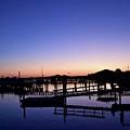 Vertical Pre-dawn Stillness At The Marina 13670 by Anna Gibson