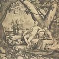Vertumnus And Pomona, 1605  by Pieter Jansz Saenredam