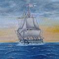 Vessel At Sea by Luca Pisanu