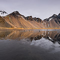 Vestrahorn Mountain In Stokksnes Iceland by Michalakis Ppalis