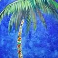 Vibrant Blue Palm by Kristen Abrahamson