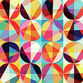 Vibrant Geometric Abstract Triangles Circles Squares by Tina Lavoie