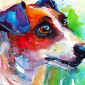 Vibrant Jack Russell Terrier Dog by Svetlana Novikova