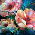 Vibrant Poppies by Meg Keeling