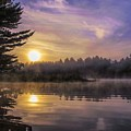 Vibrant Sunrise On The Androscoggin River by Jan Mulherin