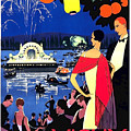 Vichy, Firework At Celebration Night by Long Shot