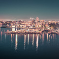 Victoria British Columbia City Lights View From Cruise Ship by Alex Grichenko
