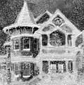 Victorian Christmas Black And White by Steve Karol