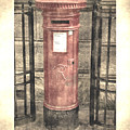 Victorian Red Post Box by Anthony Murphy