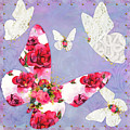 Victorian Wings, Fantasy Floral And Lace Butterflies by Tina Lavoie