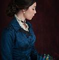 Victorian Woman Portrait In Profile  by Lee Avison
