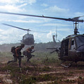 Vietnam War, Uh-1d Helicopters Airlift by Everett