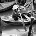 Vietnamese Woman Boat Ores Really For Tourist Mekong Delta  by Chuck Kuhn
