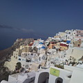 Viev Of Oia In Santorini by Maria Woithofer