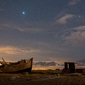 View Across Dungeness Peninsula At Night. by David Attenborough