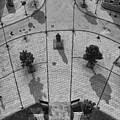 View From A Church Tower Monochrome by Jeff Townsend