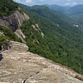 View From Exclamation Point At Chimney Rock Nc by Anna Lisa Yoder