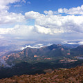 View From Pikes Peak 1964 by Karen Dickel