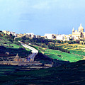 View From The Citadel Victoria Gozo by Thomas R Fletcher