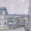 View From Vincent's Room In The Rue Lepic by Vincent van Gogh