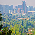 View From Wealthy Neighborhood In Hills Of Santiago-chile by Ruth Hager
