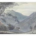 View Near Sallanches by John Robert Cozens