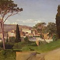 View Of A Villa by Jean Achille Benouville
