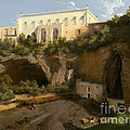 View Of A Villa, Pizzofalcone, Naples by Lancelot-th?odore Turpin De Criss?